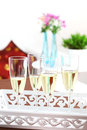 Sparkling wine on the table Royalty Free Stock Photography