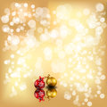 Sparkly christmas background sparkle with stars snows balls Royalty Free Stock Photography