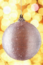 Sparkly christmas tree decoration baubel Stock Photography