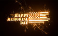Sparkly HAPPY MEMORIAL DAY title with flag Royalty Free Stock Photo