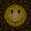 Sparkly smiley face Stock Photo