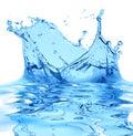 Di acqua su bianco