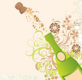 Sparks of a champagne, vector Royalty Free Stock Photo