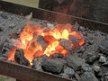 Sparks of forge fire Royalty Free Stock Photo