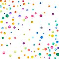 Sparse watercolor confetti on white background. Royalty Free Stock Photo