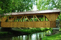Sparta, Wisconsin Covered Bridge - Side View Royalty Free Stock Photo
