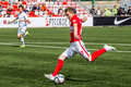 Spartak moscow youth ufa youth game moments Stock Image
