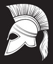 Spartan helmet illustration of an ancient greek warrior trojan or gladiator Stock Photo