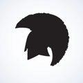 Spartan helmet. Vector drawing