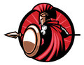 Spartan mascot with the spear weapon