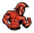 Spartan muscle posing