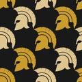 Spartan warriors seamless pattern
