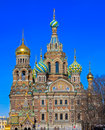Spas cathedral of the savior on the spilled blood na krovi Royalty Free Stock Photography