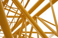 Spase Metal Truss Colored Yellow Royalty Free Stock Photo