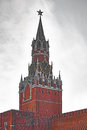 Spasskaya tower with chimes in moscow kremlin Royalty Free Stock Photography