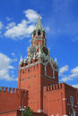 Spasskaya tower of Moscow Kremlin Stock Photo