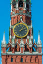 Spasskaya tower of moscow kremlin Royalty Free Stock Photos