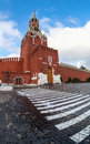 Spasskaya tower of the moscow kremlin fisheye Royalty Free Stock Photos