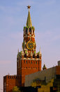 Spasskaya tower moscow red square Stock Photography