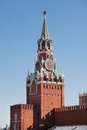 Spasskaya tower photo of in kremlin moscow russia Stock Image