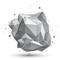 Spatial technological shape polygonal single color eps wirefra wireframe object Stock Images