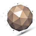 Spatial vector monochrome digital object dimensional technology orbital element with wireframe Royalty Free Stock Photos
