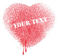 Spatter heart vector Royalty Free Stock Photo