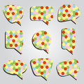 Speak bubbles colorful eps hexagon Royalty Free Stock Photography