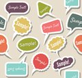 Speak bubbles vector illustration of Royalty Free Stock Photography