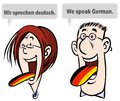 We speak German. Royalty Free Stock Images