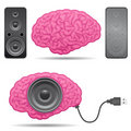 Speaker brain with usb cable Stock Photos