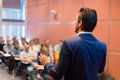 Speaker at Business Conference and Presentation. Royalty Free Stock Photo