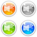 Speaker buttons. Royalty Free Stock Photo