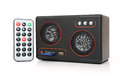 Speaker with card reader and usb mp player remote control Stock Photography