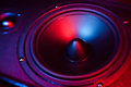 Speaker closeup classic shiny colorful Royalty Free Stock Image