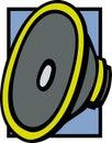 Speaker driver vector illustration Royalty Free Stock Photo