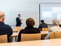 Speaker giving a presentation at business conference. Royalty Free Stock Photo