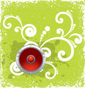Speaker on green vintage background Royalty Free Stock Photo