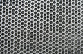 Speaker grid texture closeup of black iron Royalty Free Stock Image