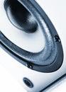 Speaker monochrome close up photo music Royalty Free Stock Photography