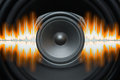 Speaker Sound Waves Royalty Free Stock Photo