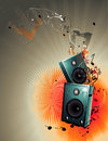 Speakers  composition Royalty Free Stock Photo