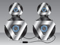 Speakers with metal and plastic elements Royalty Free Stock Photo