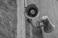 Speakers old disused black and white image Stock Photography