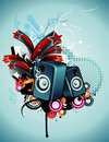 Speakers vector composition Royalty Free Stock Photo