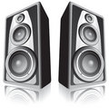 Speakers on white background Stock Images