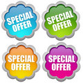 Specail offer sticker Royalty Free Stock Images