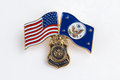 Special agent pin federal Stock Photography