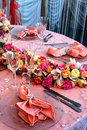 Special arrangement wedding dinner party Royalty Free Stock Image