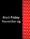 Special black friday flyer with hipster design Stock Photography